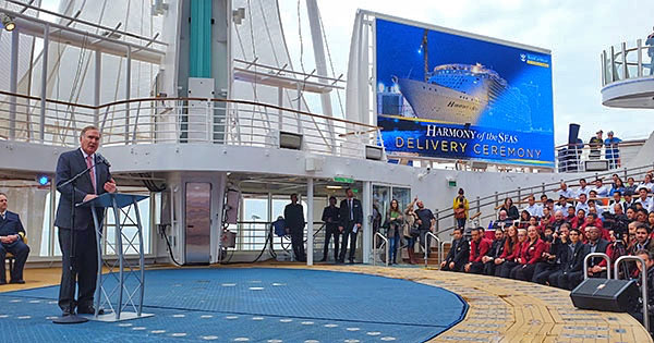 Royal Caribbean Takes Delivery of Harmony of the Seas Cruise Ship