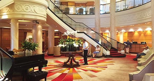 Grand Lobby on QM2