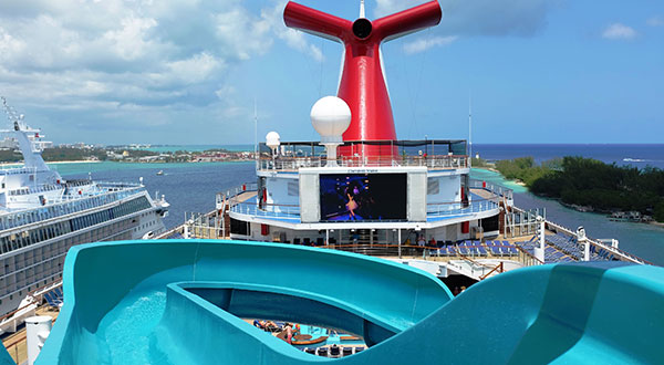 Water slide on Carnival Valor