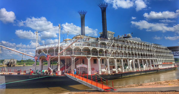 American Queen docked in port