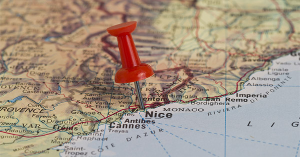 Map of Nice, France