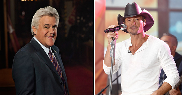 Jay Leno and Tim McGraw