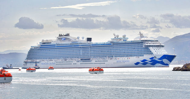 Royal Princess's new livery