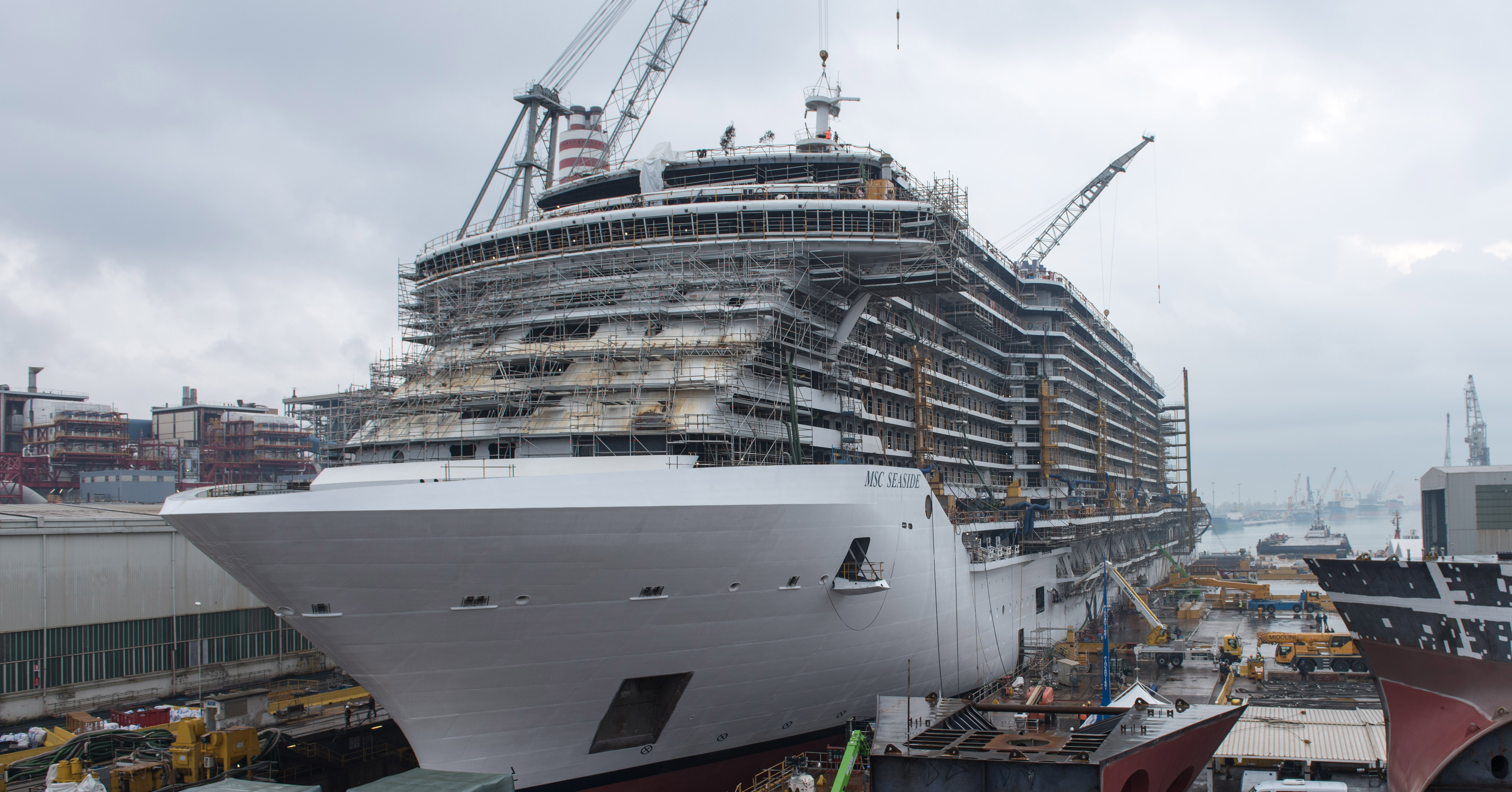 Msc Cruises Celebrates The Float Out Of Its Newest And Largest Cruise Ship Msc Cruises