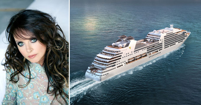 Composite photo of Sarah Brightman and Seabourn Encore