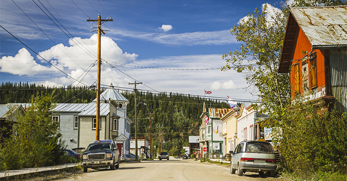 Downtown of Dawson City