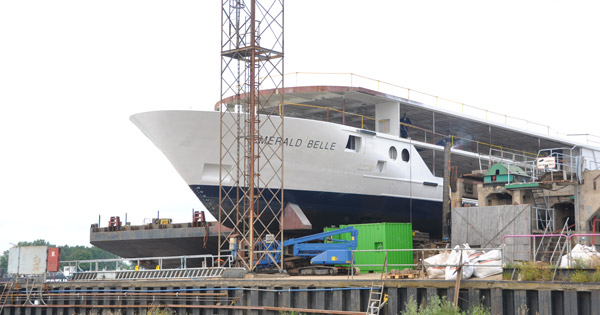 Emerald Belle Cruise Ship Damaged In Fire Cruises Cancelled - Cruise ship damaged