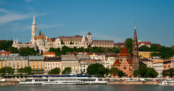 River ship on the Danube in Budapest