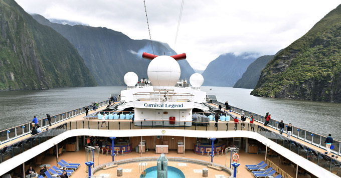 Carnival Legend in Milford Sound