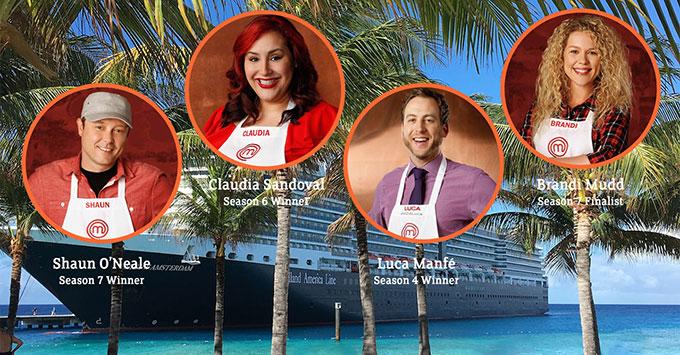 MasterChef contestants and Holland America's Eurodam