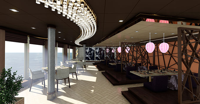 Asian Market Kitchen by Roy Yamaguchi on MSC Seaside Asian Restaurant