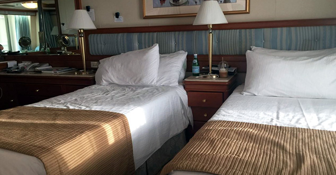 Luxury bed of Grand Princess