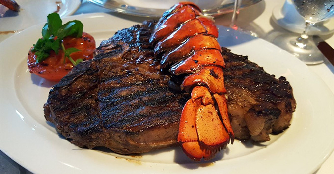 Surf and Turf at the Polo Grill on Oceania's Marina