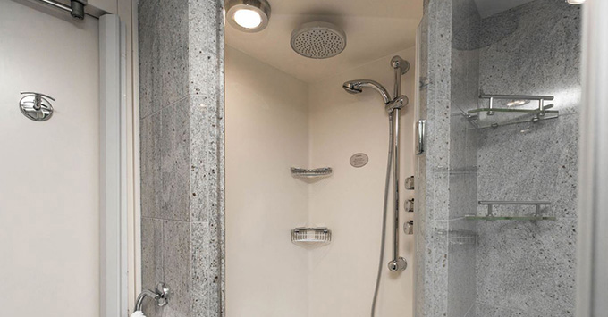Shower in Oceania cabin