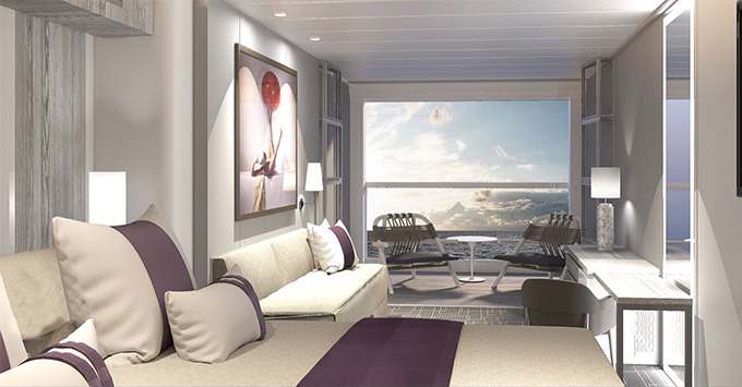 Rendering of the Infinite Veranda on Celebrity Edge