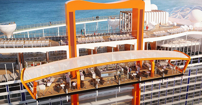 Rendering of the Magic Carpet on Celebrity Edge
