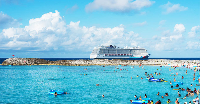 Construction Continues On Norwegian S Great Stirrup Cay Cabanas And Taco Stand Already Added