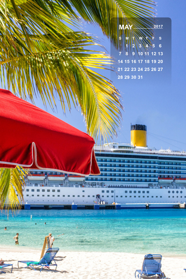 May 2017 Calendar Desktop Mobile Wallpaper Cruise Critic