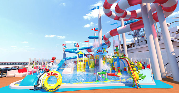 Carnival S Next Cruise Ship To Feature First Dr Seuss Themed Waterworks