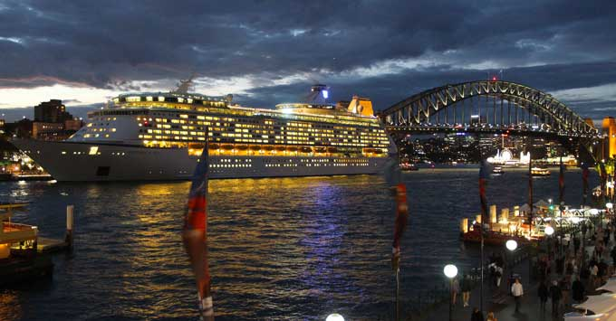 Explorer of the Seas departing Sydney Harbour