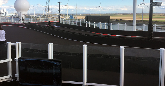 The Go Kart Track on Norwegian Joy