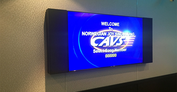 Karaoke on Norwegian Joy