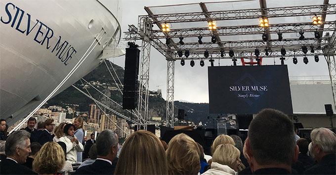Silver Muse's christening ceremony in Monaco