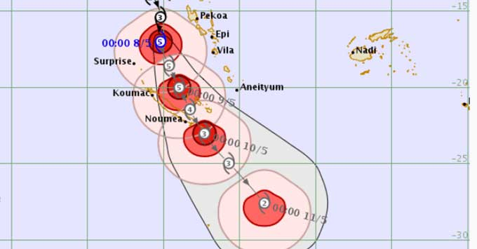 Cyclone Donna affects cruise itinerary
