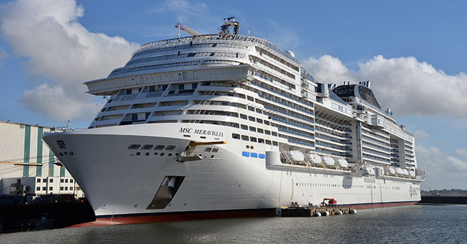 MSC Cruises officially accepted delivery of MSC Meraviglia