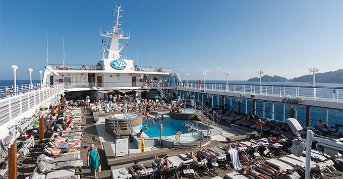 Azamara Journey pool deck