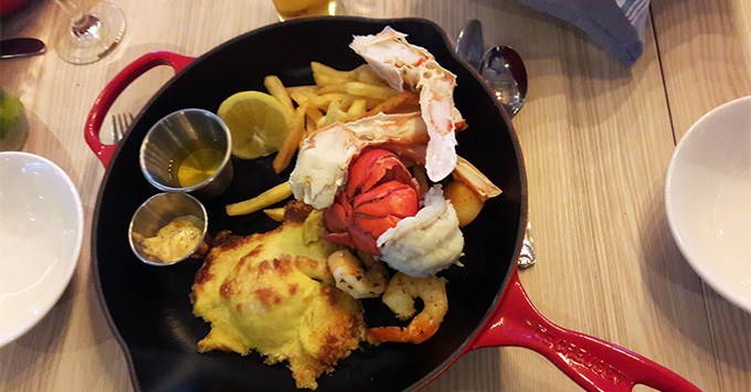 Close-up shot of Steamers Seafood platter on Caribbean Princess