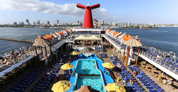 Carnival Imagination pool deck aerial