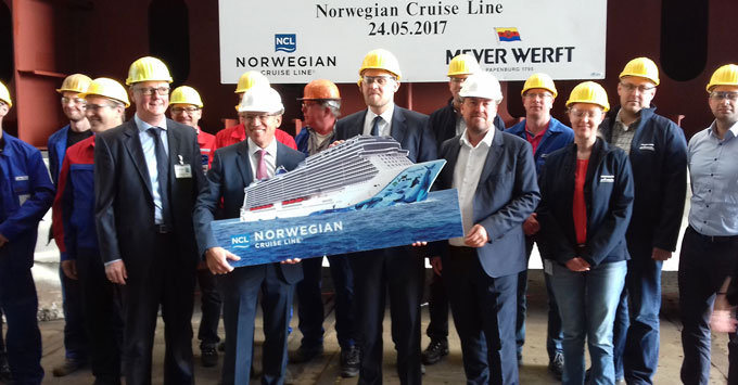 Norwegian Bliss Keel-Laying Ceremony