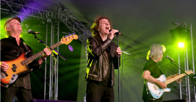 The Zombies performing on stage
