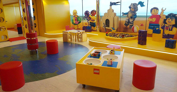 'Juniors' (ages 7 to 11) kids' club on MSC Meraviglia