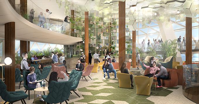 Celebrity Edge To Feature Three Deck High Eden Lounge