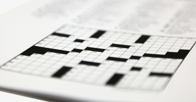 Newspaper crossword puzzle