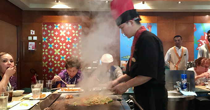 Teppanyaki on Norwegian Jewel
