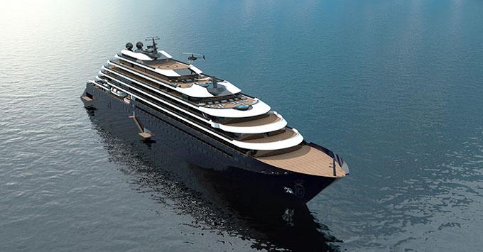 Rendering of the upcoming Ritz-Carlton cruising yacht