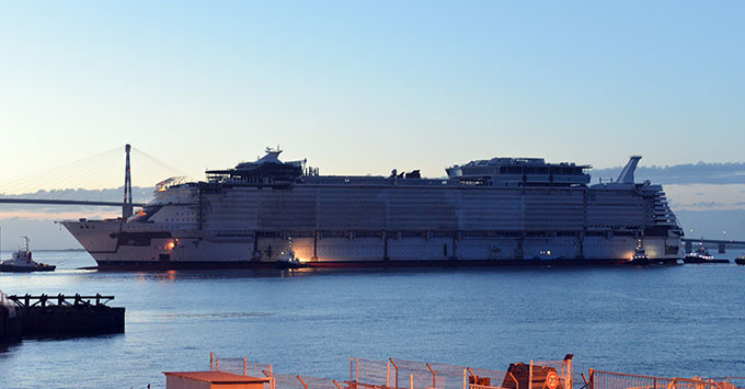Royal Caribbean Floats Out Worlds Biggest Cruise Ship Symphony - How can cruise ships float