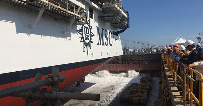 MSC Cruises Floats Out MSC Seaview, Sister Ship to Miami ...