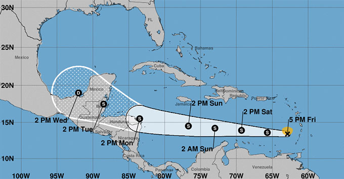 tropical storm path