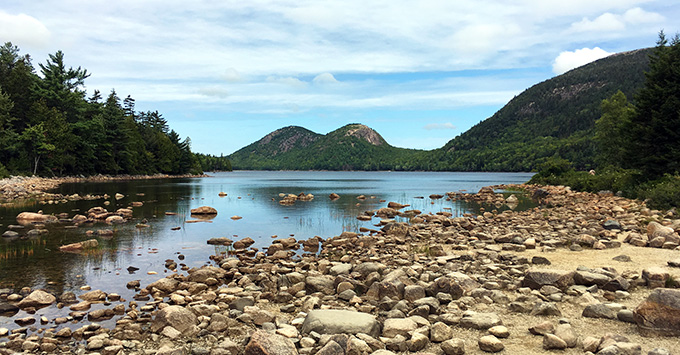 Jordan Pond in Acadia National Park near Bar Harbor, Maine