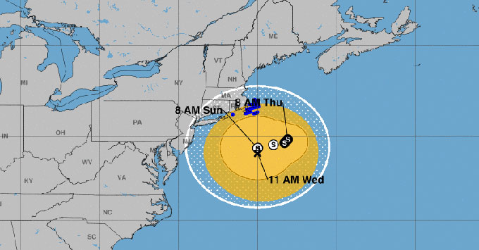 NOAA Hurricane Jose graphic