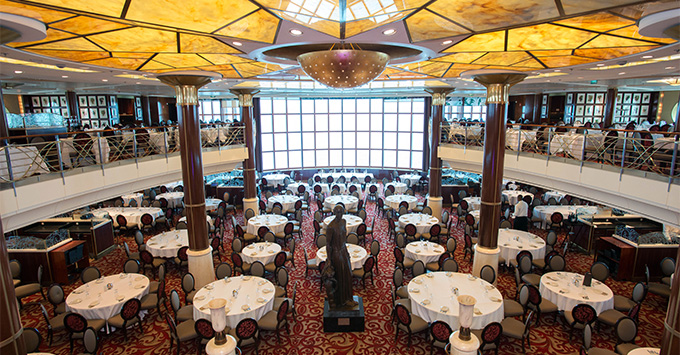 The Main Dining Room on Celebrity Summit
