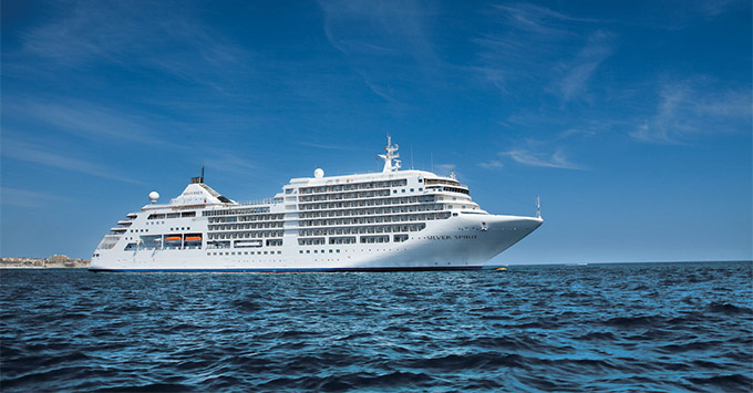 Exterior shot of Silver Spirit at sea