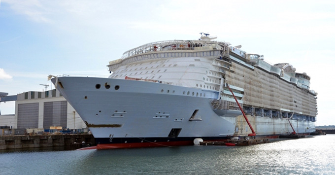 Symphony of the Seas under construction at the STX shipyard in France