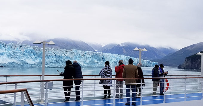 Viewing Hubbard Glacier from the ship