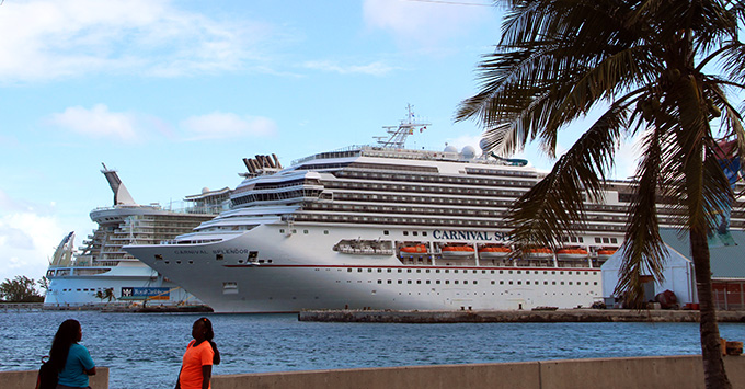 Carnival Splendor docked in port