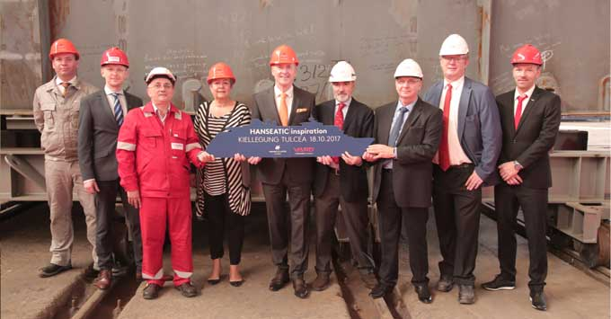 Hanseatic Inspiration keel laying